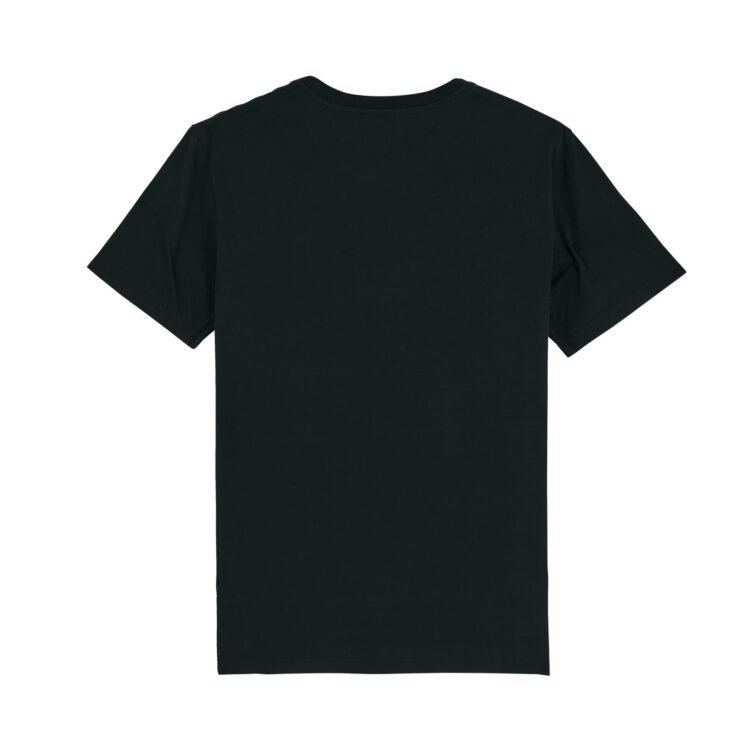 DESIGNLOVR T-Shirt in Black - Monogramm Print in White - Back